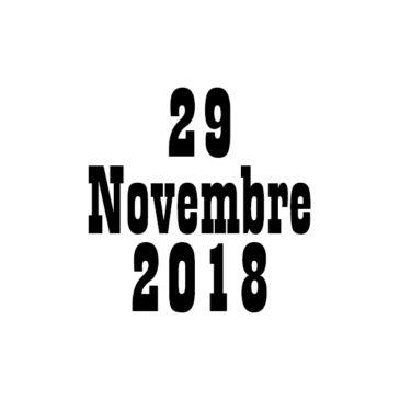 Programme Sportif : 29/11/2018
