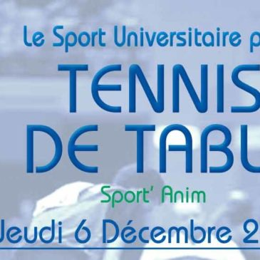 TENNIS DE TABLE : Sport'Anim
