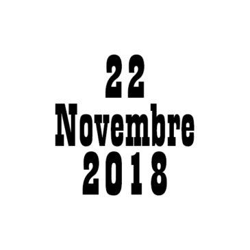 Programme Sportif : 22/11/2018