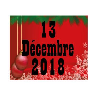 Programme Sportif : 13/12/18