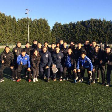 FORMATION FOOTBALL : 40 entraîneurs chinois à l'écoute des techniciens rouennais