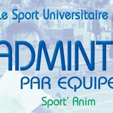 BADMINTON PAR EQUIPE : Sport'Anim