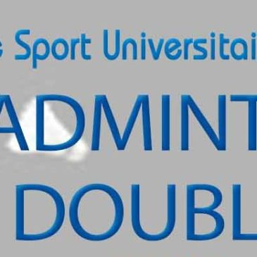 BADMINTON DOUBLE : Championnat Départemental