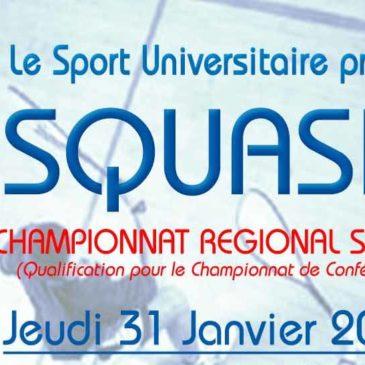 SQUASH : Championnat régional simple