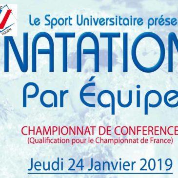NATATION PAR EQUIPE : Championnat de conférence