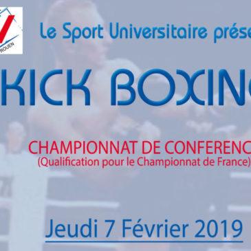 KICK BOXING : Championnat de Conférence
