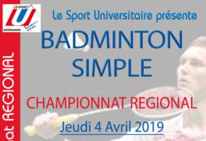 Badminton Simple : Championnat Régional @ Gymnase 2 du SUAPS  | Mont-Saint-Aignan | Normandie | France