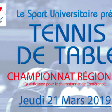 TENNIS DE TABLE : Championnat Régional Simple