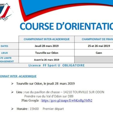 COURSE D'ORIENTATION : Championnat Régional