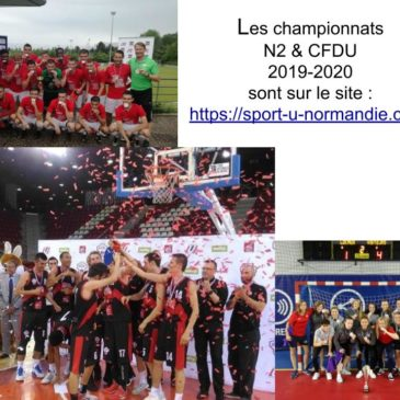 Calendriers Sports Collectifs N1 et N2