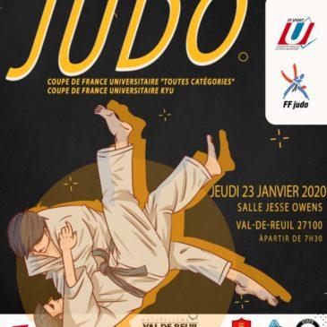 """Championnats de France Universitaires :  JUDO 2ème division, """"Toutes catégories et KYU"""
