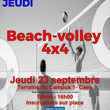 Tournoi de Beach-volley 4×4 :